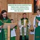Obrzęd błogosławieństwa świecami i modlitwa za wstawiennictwem Św. Błażeja