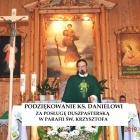 Podziękowanie ks. Danielowi za posługę duszpasterską w parafii św. Krzysztofa